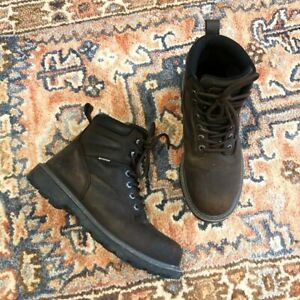 Wolverine Steel Toe Lace Up Leather Rubber Sole Work Boots Men's 8