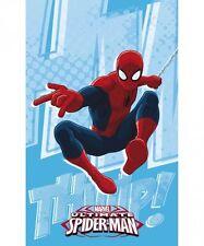 Asciugamano Asilo Spiderman Azzurro Rosso Uomo Ragno Spugna 50x80 Marvel Caleffi