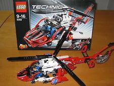 Lego Technic 8068 Rettungshubschrauber 2-in-1-Set / 100% KOMPLETT mit OVP