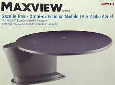 Maxview GAZELLE PRO 360° GREY  TV/FM/DAB Aerial - HGV Lorry/Caravan/Motorhome