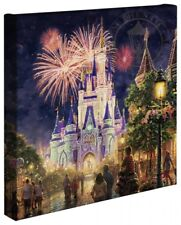 Thomas Kinkade Studios Main Street USA 14 x 14 Gallery Wrap Walt Disney World