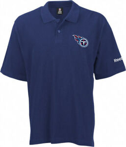 Tennessee Titans Reebok RA Polo Shirt Large Embroidered Logo Navy NFL