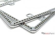 2 Chrome Diamond Bling Custom License Plate Frames for Auto-Car-Truck Front-Rear