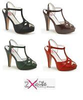 Pleaser Bettie 20 Pin Up 4 1 2 Plateau Pumps Schuhe Sandalen Retro 50 S Ebay