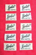Vintage Barbie From Old Clothes Black & White Barbie Label Lot!