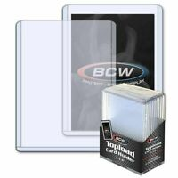 (10 Pack) BCW Thick 108pt Toploader Card Holders Great For Relics 2.75 mm