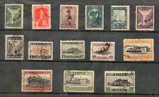 Greece. Landscapes I, USED stamps Year 1927, Acropolis Academy Bridge and Train