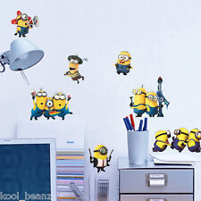 Minions Wall or Window Stickers 8 Decals Despicable Me Removable Transparent NEW