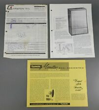 """Vtg 70s 15"""" Tannoy Monitor Gold Dual Concentric Loudspeaker Advertising Brochure"""