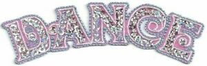 Pink Fuchsia Blue Dance Embroidery Patch w/ Flat Silver Sequins