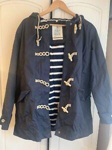 Seasalt Rain Coat Waterproof Women's Long Jacket Size 14 Navy