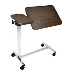 Vaunn Medical Adjustable Tilt Top Overbed Bedside Table for Home / Hospital Use