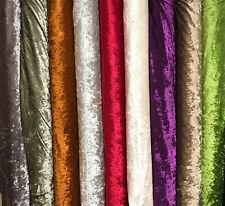 Crushed Glitz Velvet Fabric Dressmaking Upholstery Premium Material 140cm WIDE