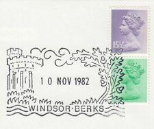 (66387) GB Used 15.5p 12.5p ex Chritmas Booklet Pane 1982 ON PIECE