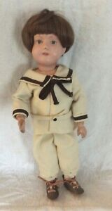 "Antique Schoenhut Doll 15"" - 1911 with Orig. Back Label - Miss Dolly"