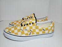 Mens Vans Era Big Check Yolk Yellow/True White Skate Shoes #VN0A4U39WYT Sz 13 DS