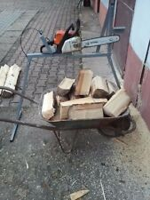 Metal Log Saw Horse With Holder For all Chainsaw with automatic gas - Video