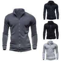 Men's Fashion Slim Sweatshirt Casual Coat Zip Hoodies Hoody Jacket Outwear Tops