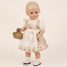 Schildkröt Bärbel, 41 cm, miblu, blondes Haar, braune Glaskugelaugen