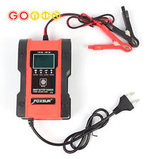 Electronic Car Motorcycle Battery Charger 12V/24V Pulse Repair LCD Display
