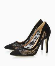BNIB DUNE HEAD OVER HEELS 'AUDRINE' POINTED DRESSY LACE COURT SHOE NEW SZ 7