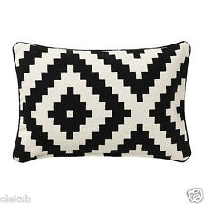 IKEA LAPPLJUNG RUTA Cushion Cover, White, Black, 100 % Cotton Decor Cover Pillow