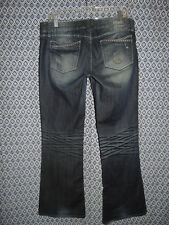 Guess Premium Womens Foxy Flare Low Rise Stretch Denim Blue Jeans Size 32 Cool!!