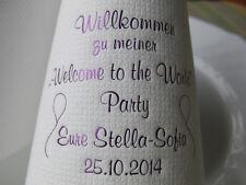 ♥ 50 bedruckte Taufservietten mit Name+Datum+Motiv für die TAUFE/Baby/Servietten