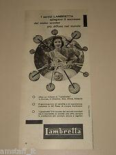 *1=LAMBRETTA MOTOR SCOOTER=1956=PUBBLICITA'=ADVERTISING=PUBLICIDAD=WERBUNG=