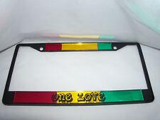 Bob Marley, Reggae, One Love, Rastafarian, License Plate Frame Brand New!