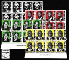 Zimbabwe 2007 Heroes Imprint Blocks, VFU (WU47) (sheet corner)