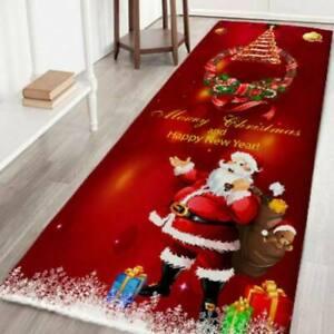 Christmas Santa Claus Room Floor Mat Home Decor Carpet Rugs Xmas Decors Wedding