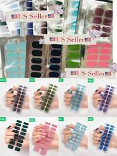 Color Nail Polish Strips 18-Count Manicure Nail Stickers Us Seller