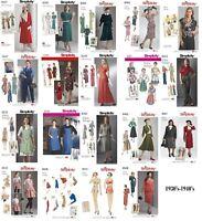 Simplicity Sewing Patterns Misses' Retro Vintage 1930s 1940s Dresses Aprons Tops