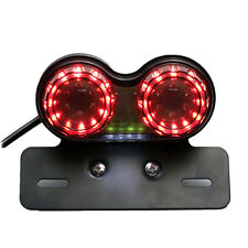 Dual Light LED Tail Lamp Brake Turn Signal Light Kit Motorcycle Unit Red Number
