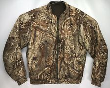 Men's MEDIUM - CABELAS Reversible Mossy Oak Duck Blind Camouflage Hunting Jacket