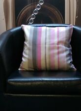 Pink, Greys And Cream Stripes Evans Lichfield Cushion Cover