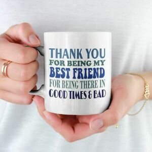 BEST FRIEND THANK YOU TEXT PRINTED MUG GIFT FREE P&P CHRISTMAS