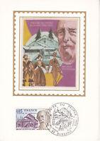 Carte Postale 1er jour Soie 1975 Le Théâtre du Peuple à Bussang