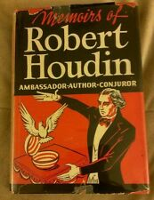 MEMOIRS OF ROBERT HOUDIN Carl W. Jones 1944 1945 Hardcover 1st Edition Houdini