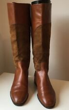 Gucci Tan Leather/Suede Size 5 (38) Knee Length Riding Style Pull On Boot