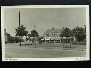 London Hounslow HESTON Fern Lane shows Shops inc E.J. MILLEN'S - Old RP Postcard