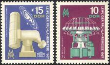 Germany 1967 Leipzig Fair/Telescope/Weaving Loom/Business/Commerce 2v set n44575