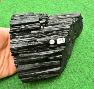 Large Black Tourmaline Quartz Muscovite Mineral-Crystal Buy UK✔ 15cm 1.6kg #20XN
