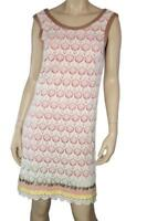 Custo Barcelona White/Pink Laced Dress Size L