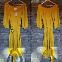 $180! Lucienne NWT! Maxi Dress- Maeve by anthropologie Belted Dress- Size 20W