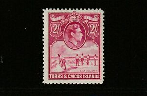 GEOVI TURKS & CAICOS IS  44  2/- fresh lmm cat £23
