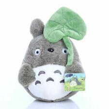 "My Neighbor Totoro Plush Doll 8"" Soft Stuffed Dark Grey Leaf Totoro Toy Gift"