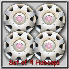 "2000 2001 16"" VW Volkswagen Beetle Pink Daisy Flower Hub Caps, Wheel Covers"