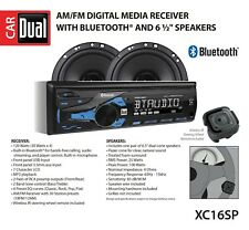 High Resolution LCD Single DIN Car Stereo Receiver with Built-In Bluetooth, USB,